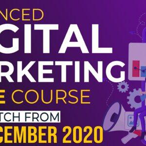LIVE Digital Marketing 3 Months Course | Starting from 1st December 2020 | WsCube Tech