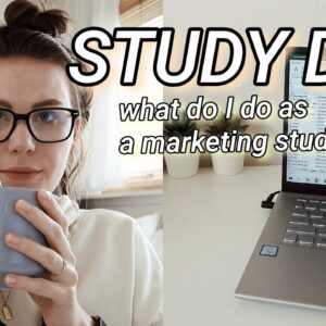 A REAL DAY IN MY LIFE | study day as a marketing student