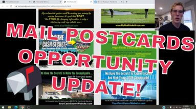 """MAKE MONEY MAILING POSTCARDS 2021 - HIGH TICKET INCOME FROM HOME """"AFFILIATE MARKETING FOR BEGINNERS"""""""
