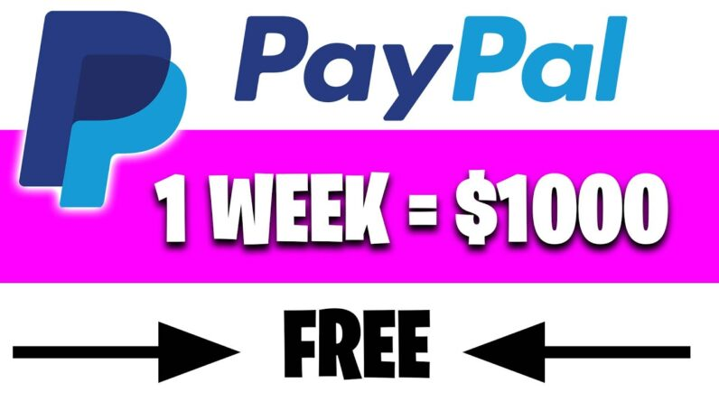 Earn $1000 Per Week In PayPal Money Fast! [Make Money Online]