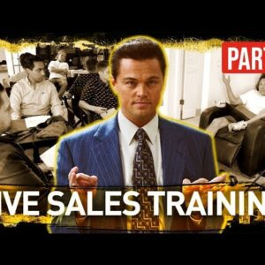Live Sales Training with Jordan Belfort - MUST WATCH