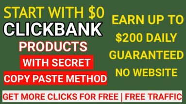 Make Money Online | Promote Clickbank Product For Free | Clickbank Affiliate Marketing