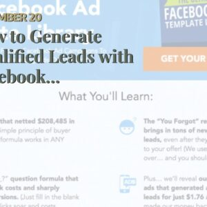 How to Generate Qualified Leads with Facebook Advertising Can Be Fun For Anyone