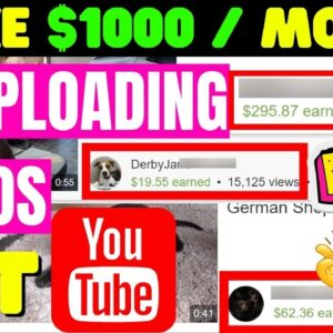 Make Money Re Uploading Youtube Videos | How To Make Money Online 2021 [Make $1000 Per Month]