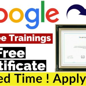 Google 20+ Free Trainings With Free Certificate | Google Free Certificate | Digital Marketing