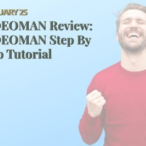 VIDEOMAN Review: VIDEOMAN   Step By Step Tutorial