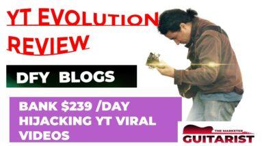 YT Evolution review demo ♠️Stop♠️Check my $4235 YT EVOLUTION review