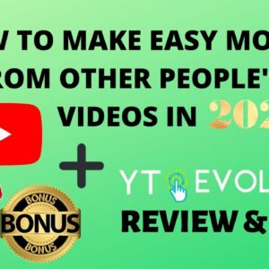 YT Evolution Review Demo | How To Make Money From Other YT Channels in 2021 + Exclusive Bonuses✔️