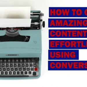 How to Create Amazing Content From Scratch Effortlessly (BLOG) | Conversion.ai Copywriting Tool