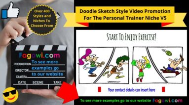 Personal Trainer Video Ad V5 Doodle Sketch Style For Online Marketing & Social Media Lead Generation