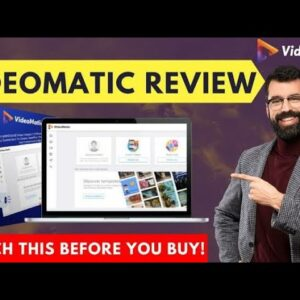 VideoMatic Review 🔥Live Demo 📺  Mass Super Vendor  Back Door Bonuses || A genuine review #videomatic