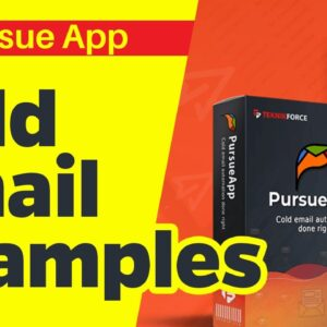 Cold Email Examples | PursueApp Tutorial