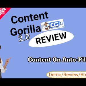 Content Gorilla 2.0  Demo & BONUS
