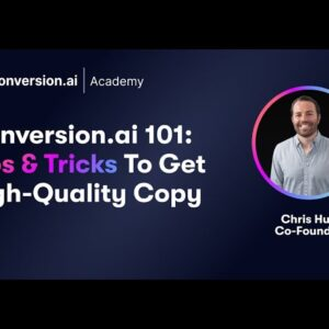 Conversion.ai 101 Training with Co-Founder Chris Hull