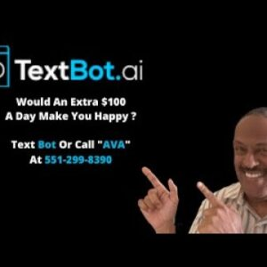Textbot ai Get Paid $100  $500 in commission over and over simply by sharing a phone number