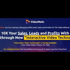 Get Videomatic Review And Bonus
