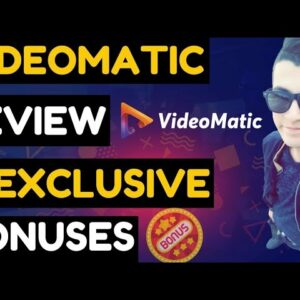 ''VIDEO MATIC'' Intro & Detailed Demo _ 7 FREE Reseller Licence Product #VideomaticReview