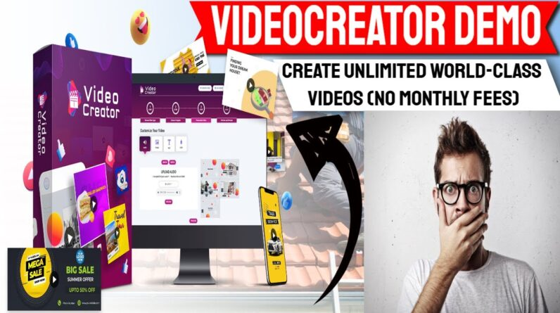 Videocreator Review & Bonus-VideoCreator Dashhboard By paul ponna