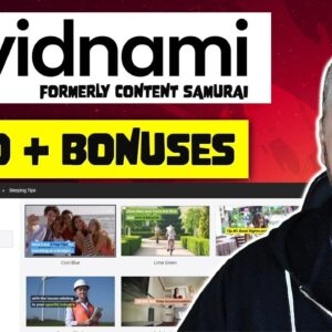 Vidnami Review (Content Samurai) + Demo and Bonuses