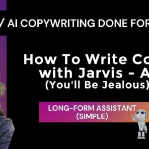 AI Copy Done For You | How to Write Copy With Jarvis - AI (You'll Be Jealous!)