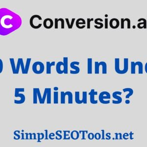 Conversion AI Demo - 500 Words In Under 5 Minutes!