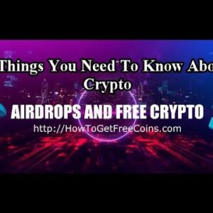 CRYPTO COINDROP REVIEW | THE 3 THINGS YOU NEED TO KNOW ABOUT CRYPTOCURRENCY | How to Get Free Coins