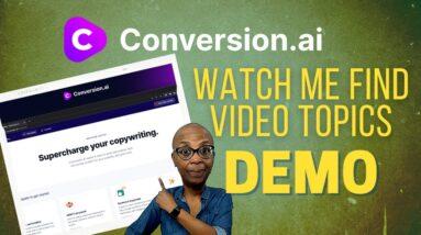 How I Generate Video Topics Using Conversion.ai