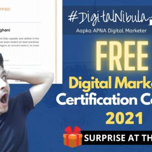FREE Digital Marketing Certification Courses In 2021 😲✅ | Digital Nibula