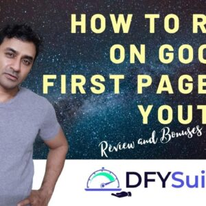 How to rank on google first page 🥇 DFY Suite 3.0 🥇 How to rank Youtube videos on google first page