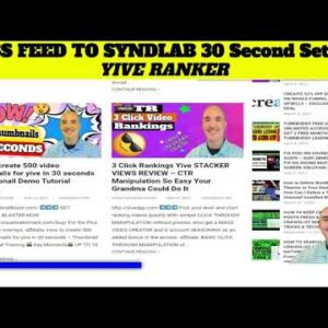 5 Yive Ranker RSS feed to syndlab 30 second set up - YIVERANKER