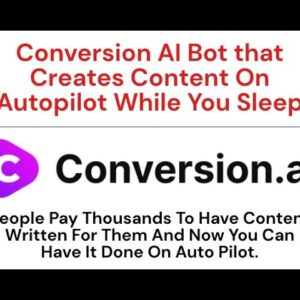 Conversion AI Bot that Creates Content On Autopilot While You Sleep Content Unlimited Demo