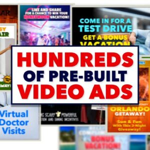 Marketing Boost Pre-Built Video Ads & Landing Pages