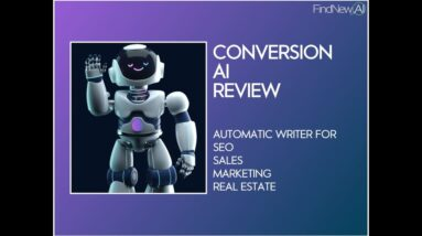 Article Writer Robot - let conversion.ai write your blog posts, marketing emails, and sales pages.