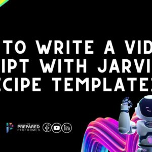 How to Write a Video Script with AI - Jarvis (Conversion.ai) Recipe Template