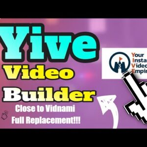 Yive Video Builder -One Time Fee! Close Vidnami Alternative