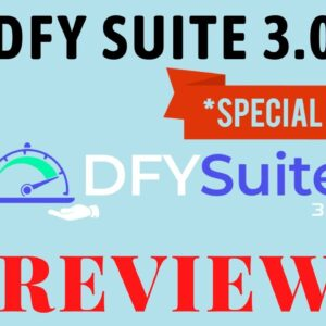 DFY Suite 3.0 Review - ⚠️Don't Get It⚠️ Without My 🎁Custom Bonuses🎁DFY Suite 3.0 Review