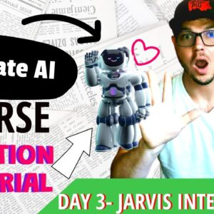 Create Your Own Course[Using AI] Day 3-Jarvis.ai Intensified Workshop