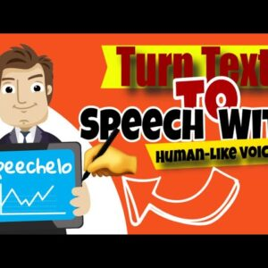 Speechelo for Beginners   Full Training Video | text to voice for youtube videos