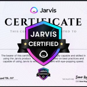 How to Get Jarvis Certificated