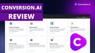 Conversion.ai Review | An In-depth Review of the Conversion.ai Writing Software |  Copywriting Tool
