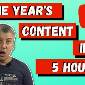 How To Create 1 Year's Worth Of YouTube Content In Less Than 1 Day | Using Speechello On YouTube