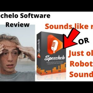 Speechelo Software Review - Crappy Robot Voice or Like Real???