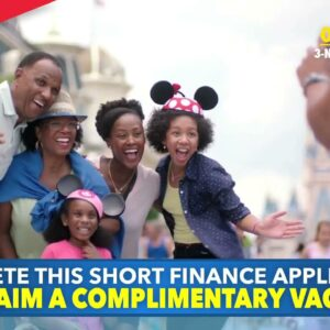 Vacation Incentives - Fill In Our Short Finance Application