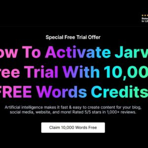 How to Activate Jarvis AI Free Trial With 10,000 Words Credit  🔥.