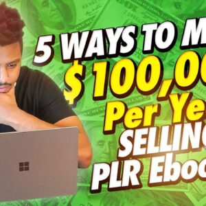 5 Ways To Make $100,000 Per Year Selling PLR eBooks (MAKE MONEY ONLINE)