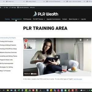 PLR Wealth Review Demo - PLR Sales Funnel Video Training Course