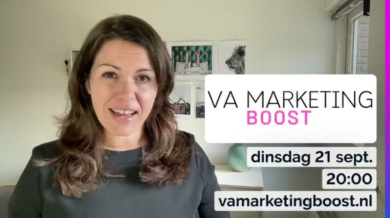 VA Marketing Boost gratis live Q&A 20 september 2021 20:00 | oproep