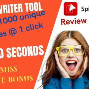 ⚠️CUSTOM BONUSES⚠️spin rewriter 12 review 2021|60% discount included| best rewriter tool
