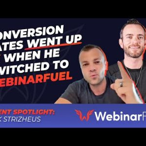 His Conversion Rates Went Up 5x On WebinarFuel