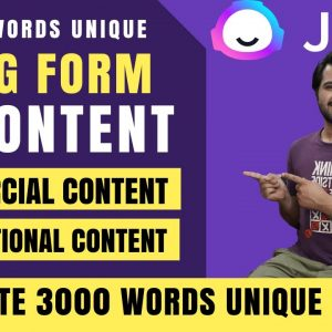 How to Write a 3000 Words Complete SEO Article With Jarvis Ai Tool